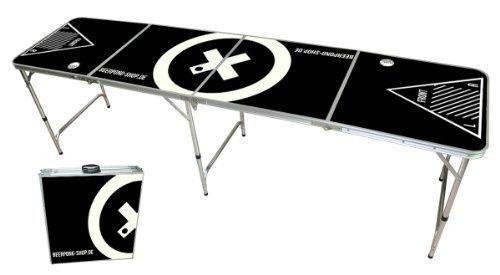 PROFI Aluminium Bierpong Tisch Beer Bier Pong Table + 12 Becher und 6 Bälle | Haushaltswaren, Möbel und Freizeitartikel günstig kaufen auf