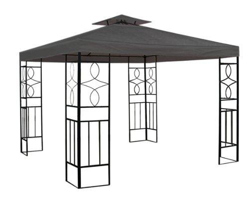 Pavillon-Dach wasserdicht anthrazit 2,98x2,98m